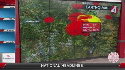 Swarm of earthquakes strike near California-Nevada border
