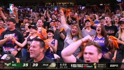 Suns hold off Giannis's 42 pts to beat Bucks for 2-0 lead in NBA Finals