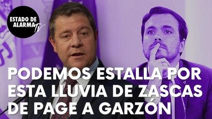 """Podemos estalla por esta lluvia de zascas de García-Page a Garzón: """"Se inventa su cargo todos los días"""""""