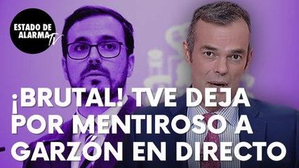 """¡BRUTAL! TVE deja por mentiros al ministro Garzón en pleno directo: """"¿No está diciendo la verdad?"""""""