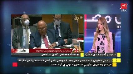 الدكتورة أماني الطويل : جلسة مجلس الأمن جلسة افتتاحية وتم تحميلها أكثر من حجمها