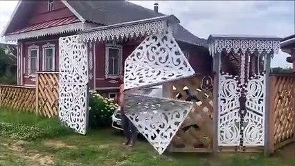 Vous n'avez jamais vu un portail de garage pareil !