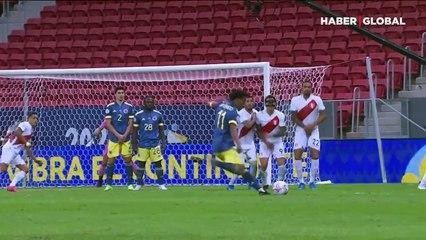 Kolombiya Peru üçüncülük maçı nefes kesti