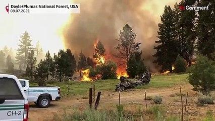 Pic de chaleur et vague d'incendies aux Etats-Unis