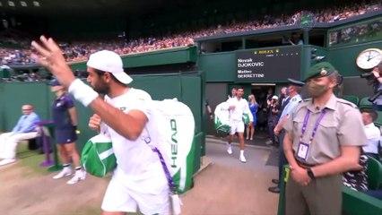 Novak Djokovic wins men's singles final at Wimbledon levelling with Roger Federer and Rafael Nadal on 20 Grand Slam titles
