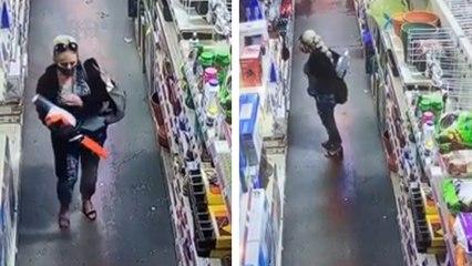 Dans un magasin elle cache une tronçonneuse dans son pantalon