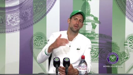 "Wimbledon 2021 - Novak Djokovic : ""Roger Federer and Rafael Nadal are the reason I'm here today"""