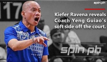 Kiefer Ravena reveals coach Yeng Guiao's soft side