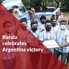 From fire crackers to street dancing: Football fans in Kerala celebrate Argentina's victory