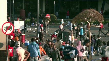 Rioting and looting breaks out in South Africa after jailing of  former president Jacob Zuma