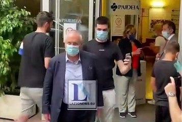 Claudio Lotito in Clinica Paideia