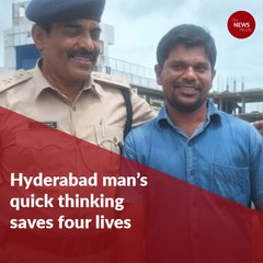 Hyderabad man's quick thinking saves four lives trapped in burning car