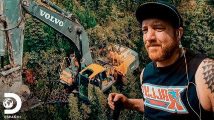 Enorme árbol se interpone en el camino de Rick Ness | Fiebre del Oro | Discovery En Español