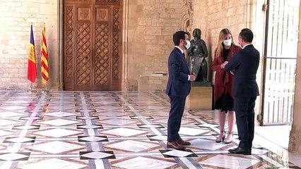 Trobada Xavier Espot i Pere Aragonès al Palau de la Generalitat