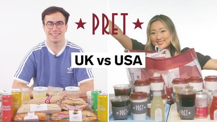 Every difference between UK and US Pret A Manger including portion sizes, calories, and exclusive items