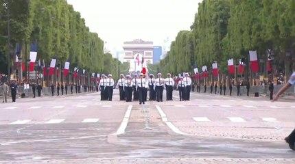 Revivez le passage plein de fierté de la police municipale de Nice lors du défilé du 14-Juillet sur les Champs-Elysées