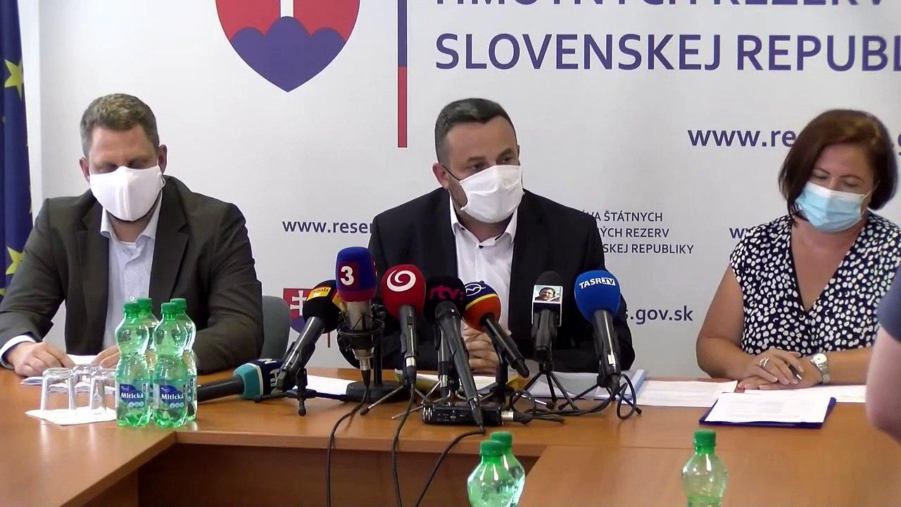 ZÁZNAM: TK predsedu Správy štátnych hmotných rezerv SR Jána Rudolfa - nákup antigénových testov