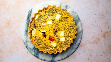 Courgette and Paneer Quiche