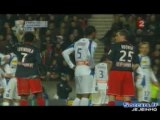 PSG AJA - Traoré gifle Rothen - Luyindula le venge.