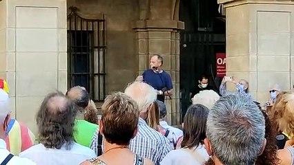 Discurs de Jordi Turull a la plaça Major de Manresa