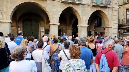 Discurs de la mare d'Anna Gabriel a la plaça Major de Manresa