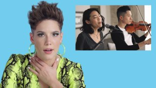 Halsey Watches Fan Covers on YouTube