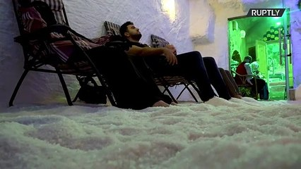 'Period of relaxation' - healing salt cave gains popularity among Giza residents