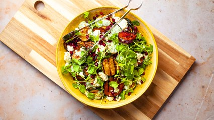 Courgette and Aubergine BBQ Salad