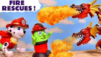 Funny Funlings Fire Rescues with Paw Patrol Marshall and Thomas and Friends in these Stop Motion Toy Episode Family Friendly Full Episode English Videos for Kids by Kid Friendly Family Channel Toy Trains 4U