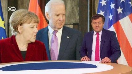 """Зачем Меркель на самом деле полетела к Байдену? Спойлер: спасать """"Северный поток-2"""" (15.07.21)"""