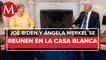 Angela Merkel llega a EU en su última visita como canciller de Alemania