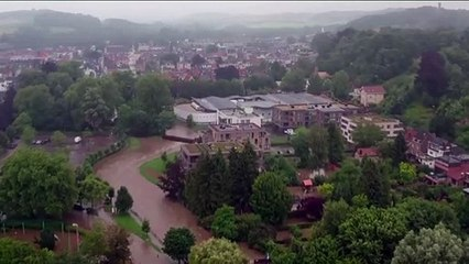 Drone video shows extent of flooding in the Netherlands