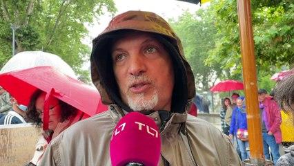 Saint-Étienne : manifestation contre l'extension du pass sanitaire