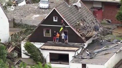 Шокирующие кадры наводнения в Германии: местные жители не верят своим глазам (16.07.2021)