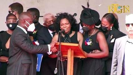 Marielle Moïse, sè Prezidan Jovenel Moïse mande jistis pou frè l.