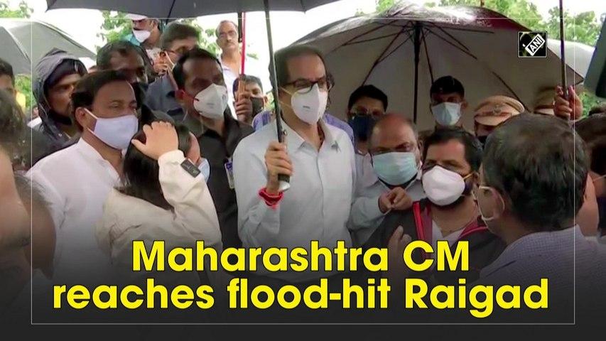 Maharashtra CM Uddhav reaches flood-hit Raigad