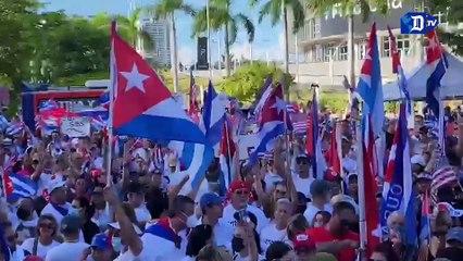 Cubanos en la Torre de la Libertad, un nuevo 'grito' por su pueblo