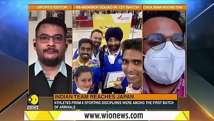 Tokyo Olympics 2020 - Indian shooting team reaches Tokyo, isolated for 3-days _ Latest English News