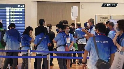 Japan: Athletes arrive in Tokyo ahead of Olympic games