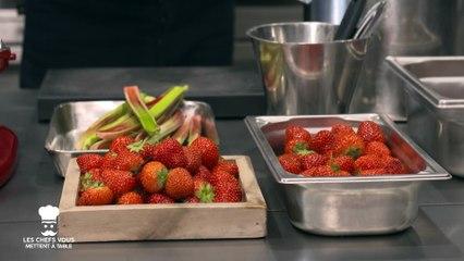 Les chefs vous mettent à table : tartelette fine fraise rhubarbe