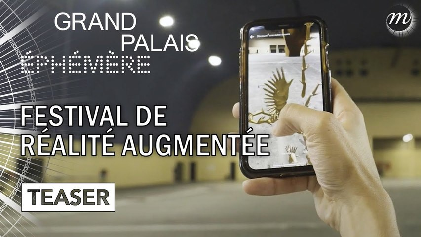 Palais Augmenté : le premier festival de création artistique en réalité augmentée !