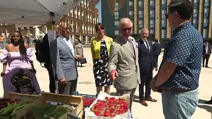 Prince Charles visits Exeter Bus Station ahead of reopening
