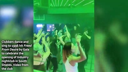 Clubbers at new South Shields club Industry celebrate Freedom Day