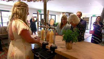 Duchess of Cornwall visits Heron Valley Orchards
