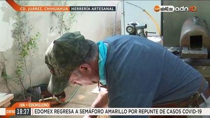 Mario Silva se dedica a la elaboración de cuchillos, su trabajo lo ha llevado a nivel internacional