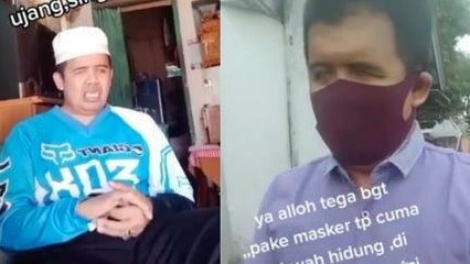 Tunanetra Didenda Karena Pakai Masker di Bawah Hidung