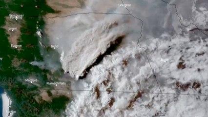 Images satellites de l'incendie dévastateur dans l'Oregon
