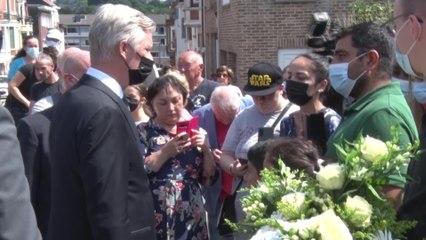 Le Roi et la Reine à la rencontre de la population à Verviers