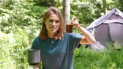 Comment se faire un café en camping avec du papier essuie-tout | Gab en camping