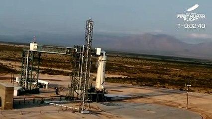 Jeff Bezos cumple el sueño de alcanzar el espacio con su propio cohete